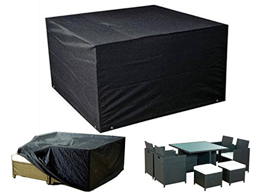 FiNeWaY@ Heavy Duty Waterproof Rattan Cube Cover Outdoor Garden Furniture Rain Protection Size 120cm x 120cm x 74cm (HEAVY DUTY RATTAN CUBE COVER)