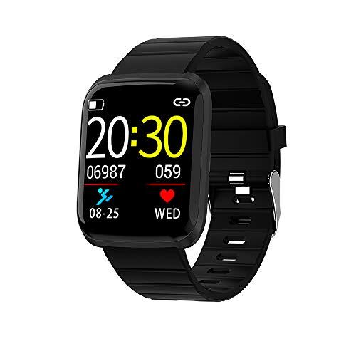 Explopur BT Fitness Tracker Smartwatch - 116 PRO Display a Colori Sport Fitness Cardiofrequenzimetro Polsino Rosso