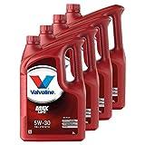 VALVOLINE 4 x Aceite de Motor Motor Motor Motor Motor Aceite Gasolina Diesel líquido Gas MaxLife 5W-30 5L