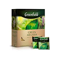 Greenfield Green Melissa Green Tea Collection Finely Selected Speciality Tea 100 Double Chamber Teabags With Tags in Foil Sachets