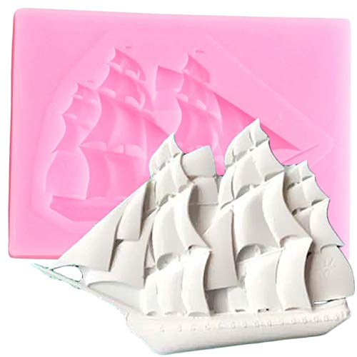 CSCZL Sailboat Shape Fondant Molds Cupcake Silicone Mould Chocolate Gumpast Moulds Wedding Cake Decorating Tools Pastry Baking Mould