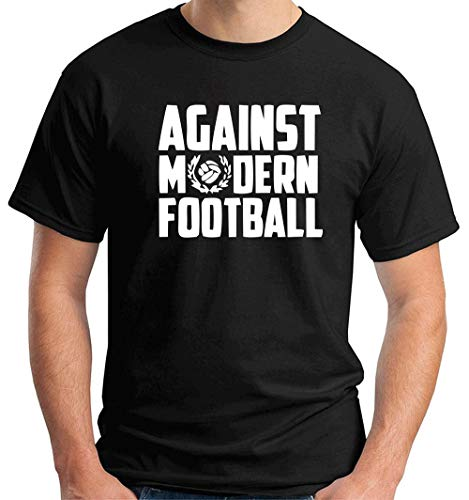 T-Shirt Hombre Negro TUM0161 Against Modern Football