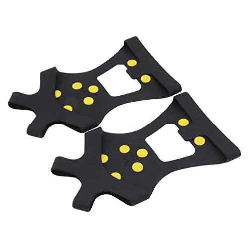Logicstring 1 par de fundas compactas para zapatos de esquí antideslizantes de 10 pines, agarre de uñas largo y duradero, tacos de crampones, equipo deportivo general al aire libre