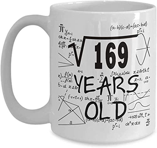 Math Coffee Mug Funny Math Present Square Root Of 16913 Year Old Boy Present Ideas 13Th Birthday For Him Boys Son Brother For Birthday Christmas Ceramic Coffee Mug White XMHLSG