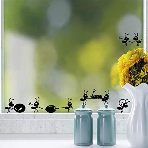 Wjwiang Muursticker voor kinderkamer in comic-stijl decoratie huis raamdecoratie glas poster muurkunst decal sticker