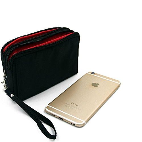 K-S-Trade Schutzhülle Handy Hülle Kompatibel Mit Cyrus cm 16 Gürteltasche Travelbag Handytasche Mit Zusatzfächern, Schwarz