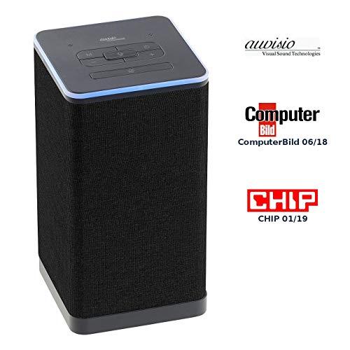 auvisio Smart Lautsprecher: WLAN-Multiroom-Stereo-Lautsprecher mit Amazon Alexa und Akku, 20 Watt (Alexa Speaker)