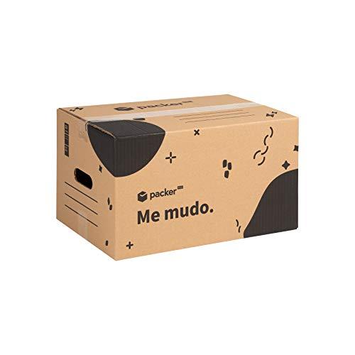 Pack 20 Kartons zum Bewegen und Lagern 430x300x250mm Ultrabeständig mit Griffen, 100% ECO Box |  Packer PRO