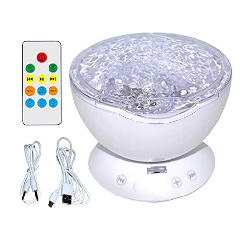 Proyector LED de 7 colores Luz nocturna Dormir Mini Música Aurora Cielo...