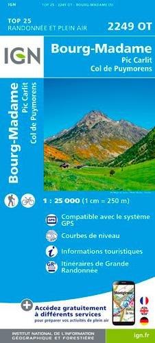 Bourg-Madame.Col de Puymorens.Pic Carlit 1:25 000