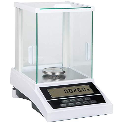 VEVOR Balanza Analítica 120g x 0,1mg, Balanza Analítica Electrónica de Laboratorio, Balanza Analítica Científica, Básculas de Joyería Balanza Electrónica Digital LCD de Alta Precisión