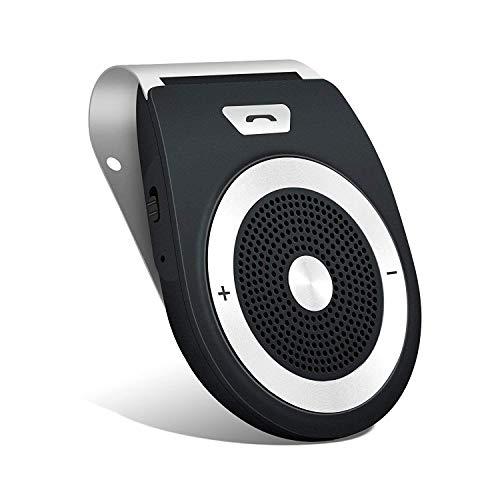 AWINLI Wireless Sun Visor Freisprecheinrichtung Bluetooth Auto Freisprechanlage Visier Car Kit mit, Unterstützt GPS, Musik, Handsfree für 2 Telefone