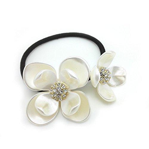 Meilliwish Kristall Blumes Pferdeschwanz -Halter Haargummi (B79)
