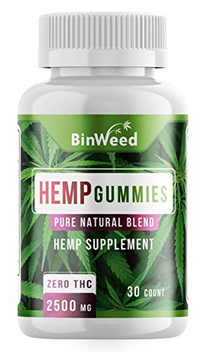 Hemp Gummies (2500mg) | Made in USA | 84 mg per Gummy | Relieves Pain, Stress, Anxiety, Inflammation, Insomnia | *Reformulated* Gluten Free, Gelatin Free, No Artificial Sweeteners, Fat Free