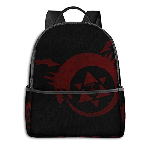 IUBBKI Anime & Fma - Ouroboros Student School Bag School Cycling Leisure Travel Camping Outdoor Backpack