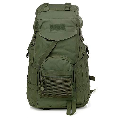 TFTREE Militär-Reiserucksack mit Tarnmuster, 60 l, geeignet für Wandern und Bergsteigen, Molle-System, wasserdicht, große Kapazität, grün