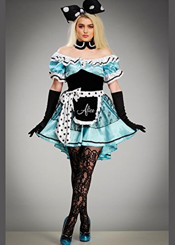 mas preferencial Magic Box Disfraz de Alice Cute Polka Dot Wonderland Wonderland Wonderland para Mujer M (UK 10-12)  te hará satisfecho