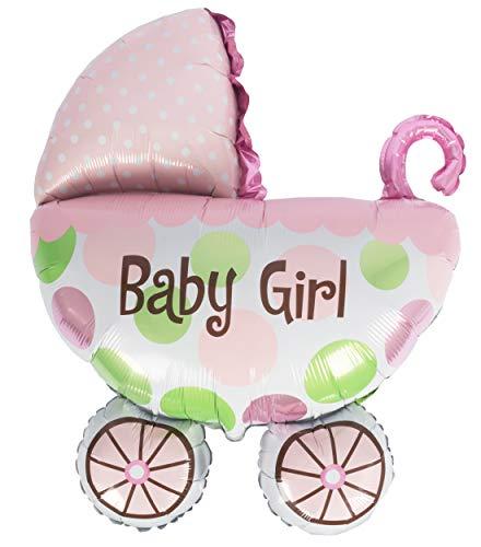 Edco Globo de plástico para cochecito de bebé, niña, tamaño XXL, 85 x 65 cm aprox.