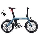 """Bicicleta de montaña,Bicicleta Adulto FIIDO D11, Bicicletas electricas Plegables,Bicicletas Mujer montaña 20"""" Bicicleta de Paseo Mujer 250W, batería de 36V 11,6Ah, el Cuerpo Pesa Solo 12,9 kg"""