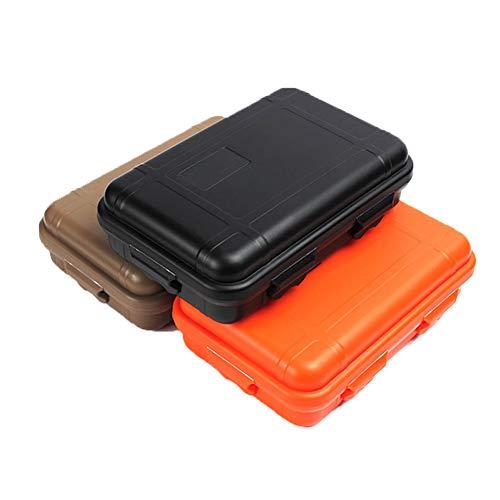 YaptheS Plástico Impermeable al Aire Libre a Prueba de Golpes Caja hermética Supervivencia contenedor de Almacenamiento Lleva la Caja 3pcs Caja de Supervivencia al Aire Libre Sistema de la Caja