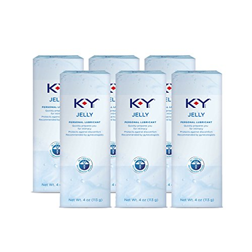 K-Y Jelly Personal Water Based Lubricant, 4 Ounce (Pack of 6) by K-y