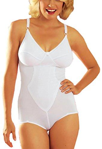 adonia mode Komfortabler Body ohne Bügel Dessous Weiss Gr.100C