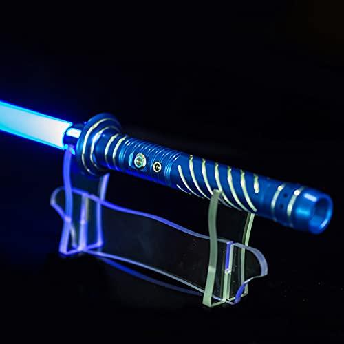 RGB Metal Sable De Luces Espada Láser Electrónica con Efecto De Sonido Réplica De Película Prop Boy Brillante Juguete Star Wars Cosplay Disfraz Accesorio,Red Handle