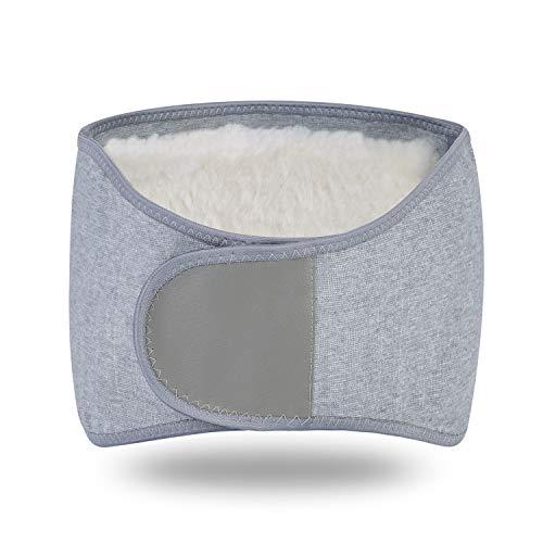 Rückenwärmer Damen Herren Nierenwärmer Plüschfutter Nierengurt Elastischer Wärmegürtel Winter Warmer Rückengurt Verstellbarer Bauchgürtel Bauch Taille Unterstützung für Kälteschutz Schmerzlinderung
