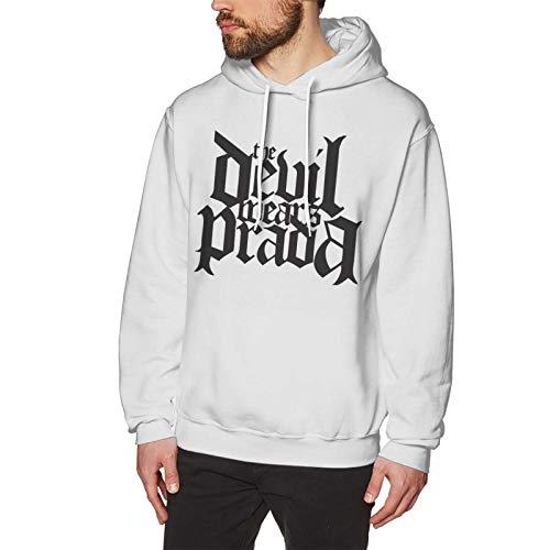 The Devil Wears Prada - Sudadera con capucha para hombre, manga larga, cómoda, con cordón, color blanco