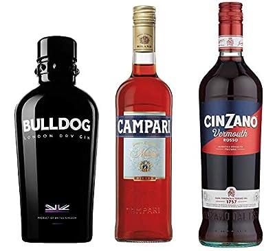 Negroni Bundle: Campari, Bulldog London Dry Gin, Cinzano Rosso, 2150ml