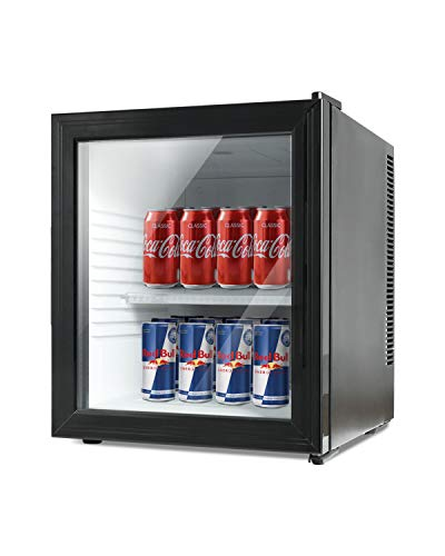 KUPPET 36L Beverage Cooler and Refrigerator,Small Mini Fridge for Home, Office or Bar with Glass Door and Adjustable Removable Shelves, Perfect for Soda Beer or Wine[Energy Class A+]