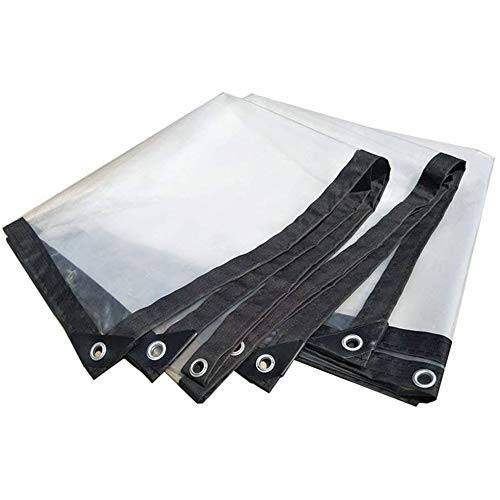 LIUHUAN Tarpaulin Transparent Waterproof Tarpaulin Cover, Protective Tarpaulin Waterproof, Dustproof and Oil Resistant Anti Aging Tarpaulin for Outdoor Garden, Available Sizes,Clear,4 * 6m