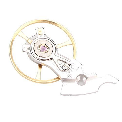 Universal Retro Uhrwerk Uhr Unruh Vintage Feder mit Halter für ETA 2824 2834 2836(Weiß)
