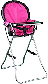 Mommy & Me Doll Collection High Chair, Pink, 25