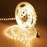 JOYLIT 24V Tiras LED Iluminación Blanco Cálido 3000K, UL CE Listado 50W Súper Brillo 3700LM, 5M Flexible 300LEDs SMD2835 IP20 No Impermeable Luces LED