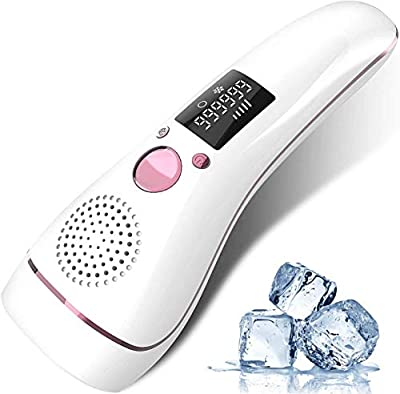 IPL Hair Removal Device for Women and Men, Upgraded Ice Cool Hair Remover Machine 999,900 Flashes Permanent Painless Home Facial Hair Removal System for Face Armpit Bikiniline Leg Body Hair from Carymade
