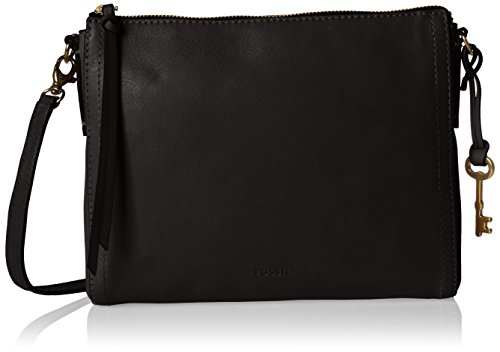 Fossil Emma, Women's Cross-Body Bag, Schwarz (Black), 4x19.5x25 cm (B x H T)
