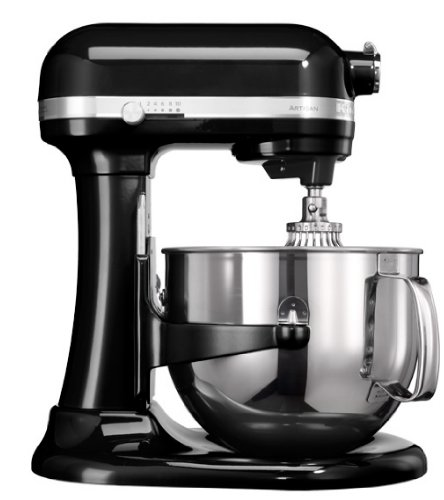 KitchenAid - Batidora amasadora (6,9 l), Color Negro