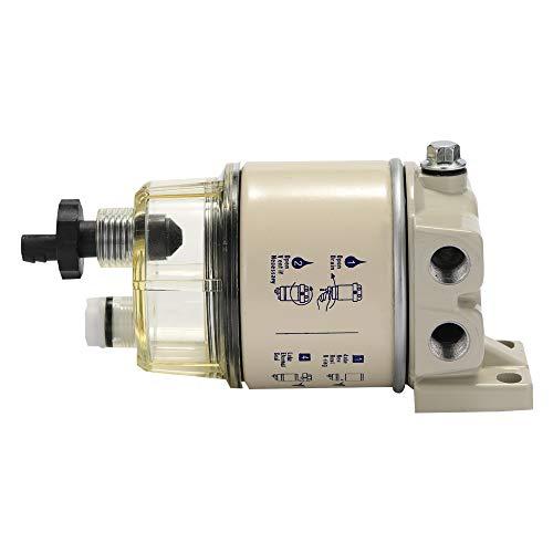KKmoon Filter R12T brandstof water filter dieselmotor voor Racor 140R 120AT S3240 NPT ZG1 / 4-19 auto-onderdelen compleet combifilter