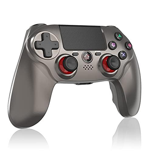 CPWORLD PS4 コントローラー fps用「2021 FPS改良」無線 最新バージョン Bluetooth リンク遅延なし 600mAh ジャイロセンサー機能 イヤホンジャック ゲームパット 搭載 高耐久ボタン 二重振動 P4/P3/PC対応 日本語取扱説明書(Grey)