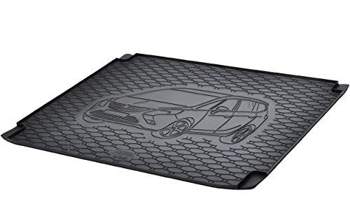 Kofferraumwanne Kofferraummatte Antirutsch RIGUM geeignet für Opel Zafira C 5-Sitzer 2012-2019 Perfekt angepasst + Eiskratzer