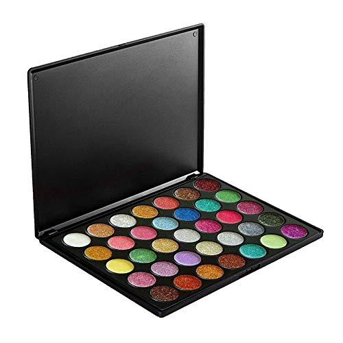 35 couleurs professionnel fard à paupières palette mat poudre paillettes fard à paupières maquillage Shimmer Pigments Kit étanche longue durée - 35 couleurs