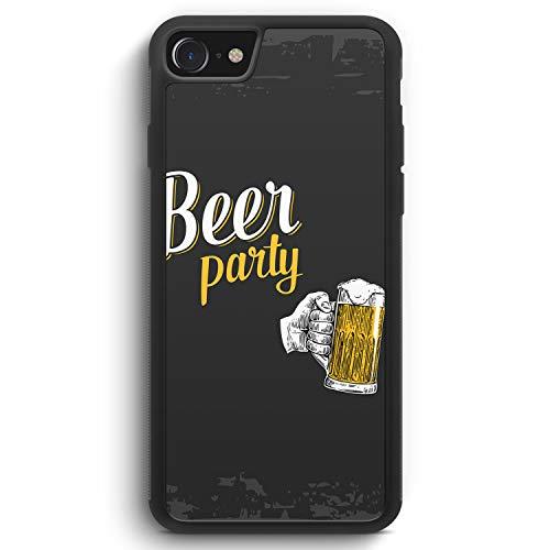 Beer Bier Party - Silikon Hülle für iPhone 6 / 6s - Motiv Design Spruch Lustig Cool Witzig Jungs Männer - Cover Handyhülle Schutzhülle Hülle Schale