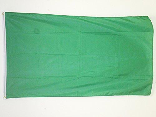 AZ FLAG Flagge EINFARBIG GRÜN 150x90cm - EINFARBIG Fahne 90 x 150 cm - flaggen Top Qualität