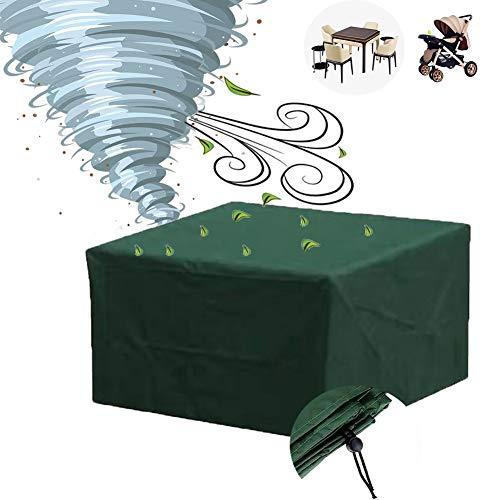 GZHENH Housse Protection Salon De Jardin,Housse De Table Et Chaise De Cour Avec Cordon Coupe-vent Tissu Oxford Épais Terrasse Plage Couverture De Canapé Rectangle, Taille 13