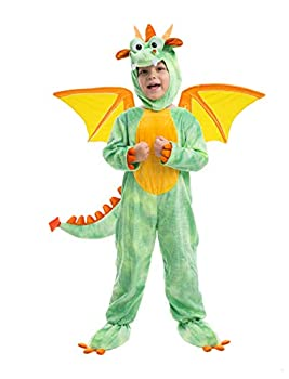 Spooktacular Creations Deluxe Dragon Costume Set with Toys for Kids Role Play 3T Green