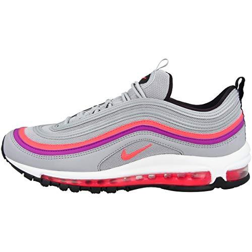Nike Wo Air Max 97, Scarpe Running Bambina, Multicolore (Wolf Grey/Solar Red/Vivid Purple/Black 009), 35.5 EU