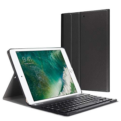 Fintie iPad 9.7 2018 / 2017 / iPad Air 2 / iPad Air Keyboard Case - Slim Shell Stand Cover w/ Magnetically Detachable Wireless Bluetooth Keyboard for iPad 6th / 5th Gen, iPad Air 1 / 2, Black