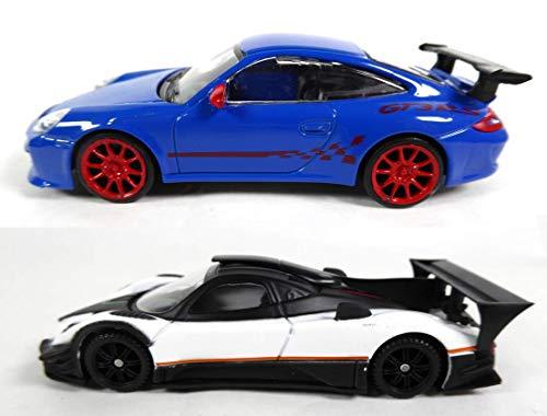 OPO 10 - Set of 2 1/43 Porsche GT3 RS + Pagani Zonda R Evo Cars