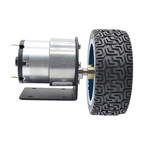 Wnuanjun 1 stück jgb37-520 mit Reifen Festsitz DC Verzögerung Motor Intelligent Auto Balance Auto DC 12V 24V Motor mit Kupplung (Farbe : 22, Größe : 12V)